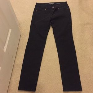 straight black skinny jeans